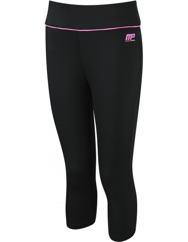 Womens Capri Pant Black-Hot Pink - Musclepharm