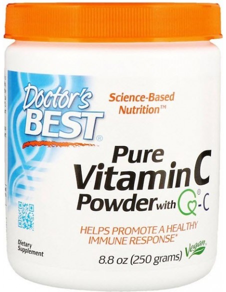 Doctor's Best, Pure Vitamin C Powder with Q-C, (250 g)