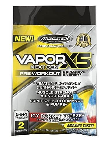 MUSCLETECH naNO Vapor X5 Next Gen 2 servings