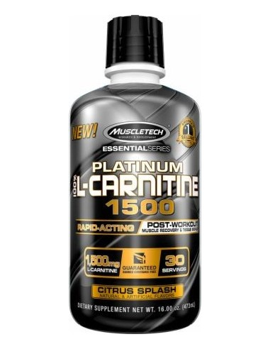 MUSCLETECH - Platinum 100% L-carnitine 1500mg 30serv 473ml