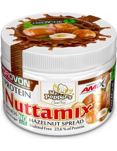 Mr.Poppers - Nuttamix® Protein Hazelnut Spread 250g with Hydrovon®