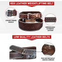 BELT LEATHER 4'' BROWN PADDED