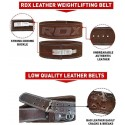 BELT PRO LIVER BUCKLE BROWN LEATHER