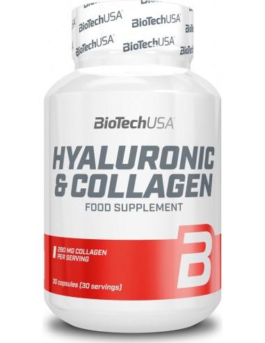 BiotechUSA, Hyaluronic & Collagen (Hüaluroon ja kollageen), 30 kapslit