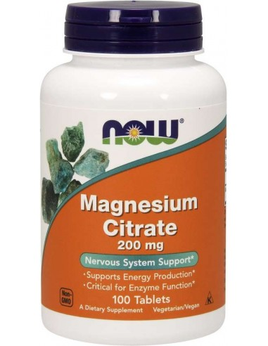 NOW FOODS - Magnesium Citrate 200mg - 100tbl