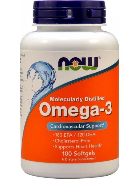 Now Foods, Omega-3, 180 EPA/120 DHA, 100 Softgels