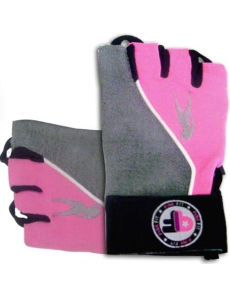 PinkFit naiste kindad hall-roosa