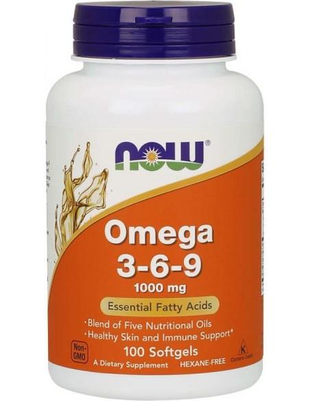 NOW - Omega 3-6-9, 1,000 mg, 100 Softgels