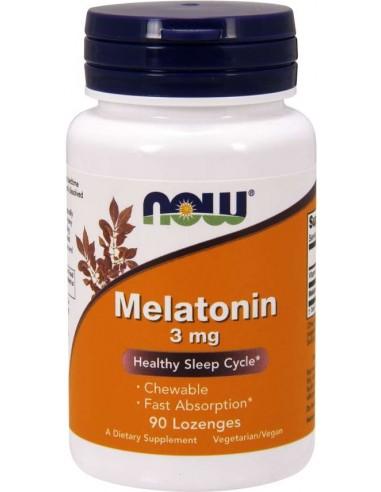 Now Foods, Melatonin, 3 mg, 90 Lozenges