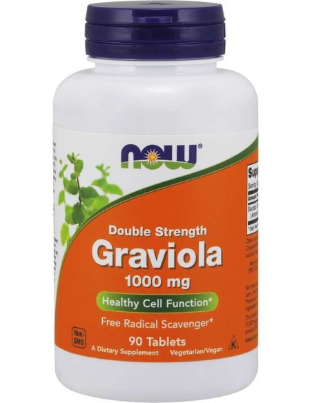 Now Foods - Graviola 1000 mg, Double Strength, 90tab