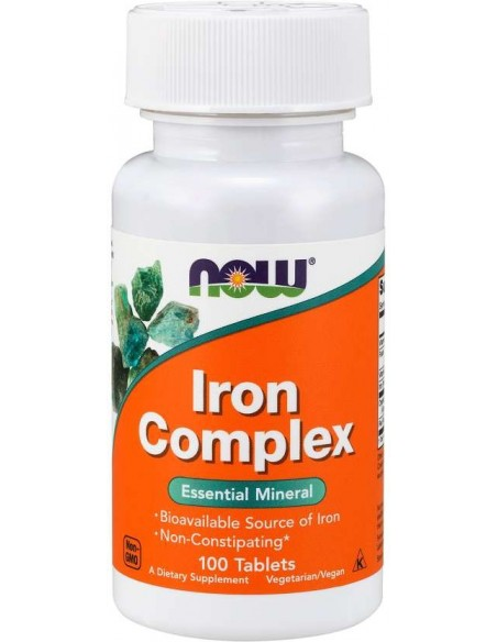 Now Foods, Iron Complex, 100 tabs