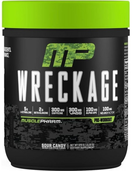 MusclePharm, Wreckage, Pre-Workout, Sour Candy, (375 g)