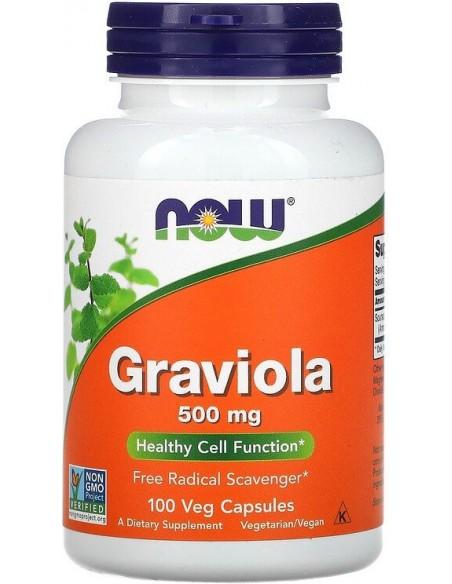 Now Foods, Graviola, 500mg, 100kapslit