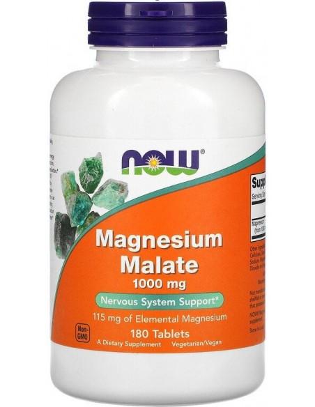 Now Foods, Magnesium Malate, 1000mg, 180 VeggieTabs