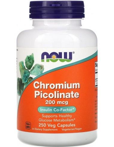 Now Foods, Chromium Picolinate 200mcg, 250 Caps