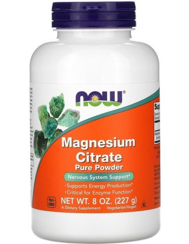 Now Foods, Magnesium Citrate, 100% Pure Powder, (227g)