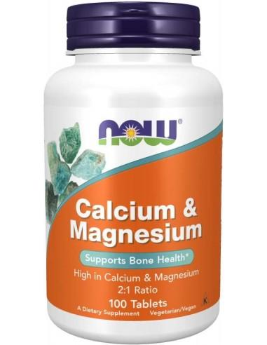 Now Foods, Calcium & Magnesium (Kaltsium & Magneesium), 100 Tabletti