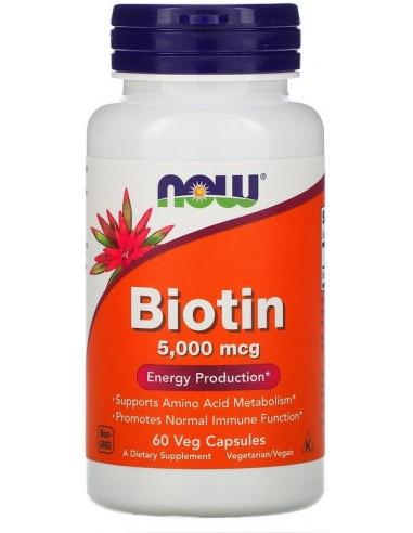 NOW FOODS - Biotin 5000mcg - 60caps