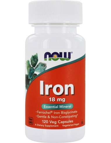 Now Foods, Iron (Raud), 18 mg, 120 kapslit