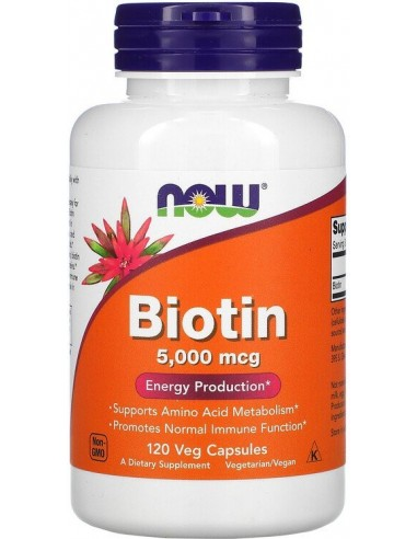 NOW FOODS - Biotin 5000mcg - 120caps