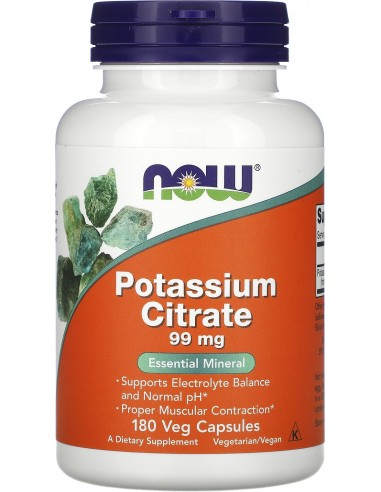 Now Foods, Potassium Citrate, 99 mg,...