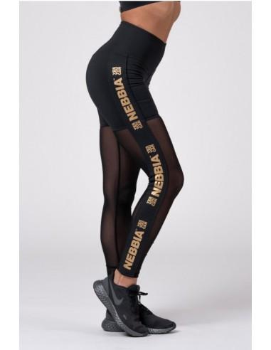 Gold Mesh leggings 829, Black