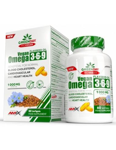 GreenDay® ProVEGAN Omega 3-6-9 Flaxseed 1000mg 60 softgels