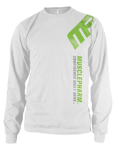 Distressed Long Sleeve T- White